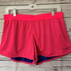 Champion Women Shorts Sz L pink  active Wear